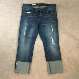 Kut from the Kloth Cameron Straight Leg Crop Jeans